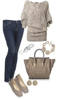 """56"" by jtells on Polyvore...with flared jeans instead"