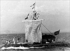 Kon-Tiki,   Sailboats historic ships history Kon-Tiki raft south pacific