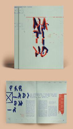 Nativos Digitales | Desplegable Tipográfico Editorial Design, Graphic Design, Typography Florencia Fuertes