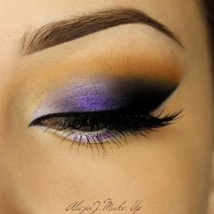 Purple perfection by AlicjaJ Make Up! For this 'Beautiful Violet' look, she used Makeup Geek Eyeshadows in Corrupt, Desert Sands, and Mirage + Makeup Geek Foiled Eyeshadow in Caitlin Rose.