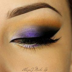 Purple perfection by AlicjaJ Make Up! For this 'Beautiful Violet' look, she used Makeup Geek Eyeshadows in Corrupt, Desert Sands, and Mirage + Makeup Geek Foiled Eyeshadow in Caitlin Rose.