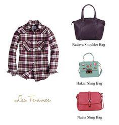 Ladies, bantu admin dong. Kira-kira tas mana ya yang cocok untuk flanell shirt ini? :D Radeva, hakan, atau Naina??