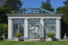 An orangery is a valuable addition to period properties. Discover all you need to know about designing orangeries, planning and orangery costs in our guide Garden Buildings, Garden Structures, Outdoor Spaces, Outdoor Living, Gazebo, Pergola, Conservatory Design, Orangery Conservatory, Victorian Greenhouses
