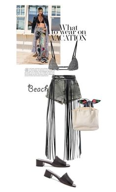 """""""beach diaries"""" by black-eclipse-red-sky ❤ liked on Polyvore featuring Ana Accessories, American Apparel, Maryam Nassir Zadeh and Fleur du Mal"""