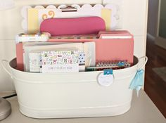 I love this idea of organizing everyday used files and thank you cards and notebooks.