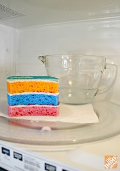 Cleaning dish sponges