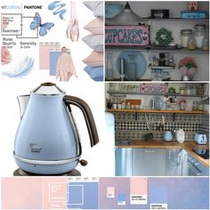 a little bit of Pantone colours of the year 2016 in my kitchen. Pantone Colours, Pantone 2016, Year 2016, Color Of The Year, Wooden Signs, Kettle, Kitchen Appliances, Colors, Home