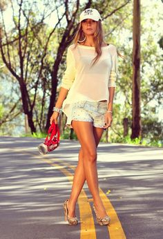 @roressclothes closet ideas #women fashion Stylish Summer Outfit with Shorts