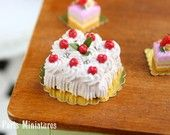 Cherry Bundt Cake on Cake Stand French by ParisMiniatures on Etsy