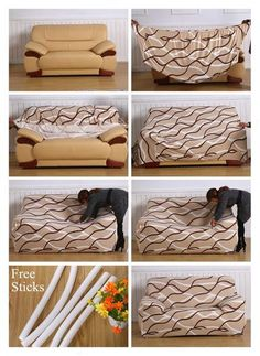 Spandex Modern Sofa Cover Elastic Floral Polyester Seater Couch Sofa Slipcover for Living Room Furniture Protector Diy Couch, Diy Furniture Couch, Furniture Covers, Diy Sofa Cover, Couch Covers, Armchair Covers, Sectional Couch Cover, Cushions On Sofa, Sectional Slipcover