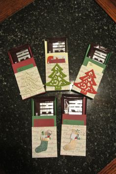 Christmas gift card holders with candy bar by craftyaletha on Etsy, $2.00