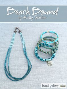 Crafting a Life in Indiana's @missmollys created Beach Bound jewelry for the Pretty Palettes blog hop and featuring Bead Gallery beads available at @michaelsstores #madewithmichaels