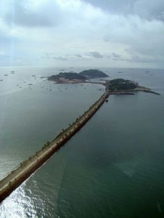 Amador Causeway. Remembering when we used to dine at the Amador Officer's Club and swim at the beach.  So beautiful!