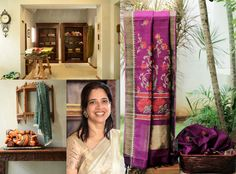 Vani Polavaram's sense of grace and style is reflected in the beautiful sarees at Lakshmi Weaves. She combines traditional hand-weaving techniques with embellishment to create things of feminine charm. The store is set in a heritage bungalow in Alwarpet. http://www.lakshmi.co/ Monday to Saturday – 10 a.m. to 7.00 p.m.