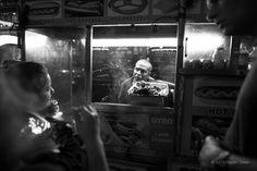 """Street Eats"" Broadway Ave. New York City. © 2014 Harold Green."