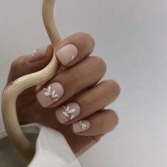 Bride Nails, Wedding Nails, Glitter Wedding, Cute Nails, Pretty Nails, Flower Nail Designs, Square Nails, Flower Nails, Stylish Nails