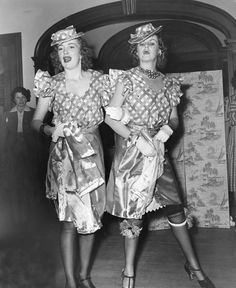 """Nina Leen  GOP WOMEN PARTY HARD, 1941    Perhaps the most provocative part of the evening involved that perennial staple (in myth, if not in fact) of male get-togethers: the strip tease. It began with """"peeling inconsequential garments"""" after which the ladies reemerged """"in kimonos."""""""