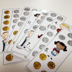 Great extra time activity: count up the money on the cards and write on them with Expo marker.