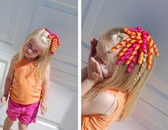 DIY curly bows