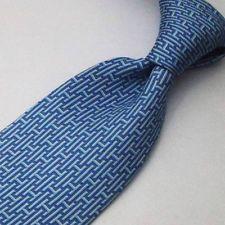 Pure Class HERMES Tie 5139 HA Brick H Logo 100% Silk Neck Necktie