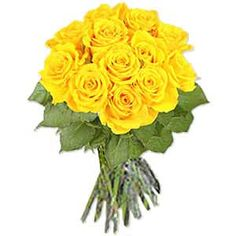 Yellow roses for joy, grace, and poetic romance. Indulge someone with these spectacular yellow roses well wrapped and tied with a bright ribbon. Also perfect to express gratitude. You can send this One Dozen Yellow Roses, for it to be made and delivered by the best, professional local florists , who specialise in Floral Arrangements.