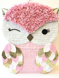 Owl Themed Parties, Owl Birthday Parties, Owl Parties, Birthday Pinata, Birthday Diy, Diy Birthday Decorations, Baby Shower Decorations, Diy Piñata, Valentine Day Boxes