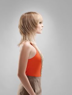 Beautiful blond hairstyle from Pivot Point.