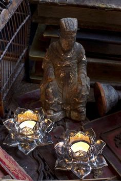 Lotus Votive Candle Holder