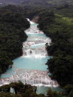 Waterfall in Chiapas, Mexico
