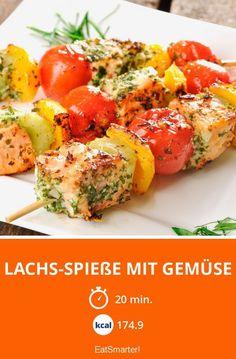 Lachs-Spieße mit Gemüse