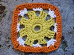 Featuring a sun motif, this granny square is deceptively quick and easy to crochet.