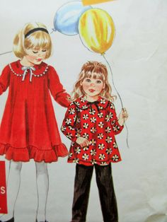 Simplicity 9715 Sewing Pattern, Little Girls Dress, Childs Pants, 1990s Sewing Pattern, Child's Dress, Sewing Supply, Peter Pan Collar by sewbettyanddot on Etsy