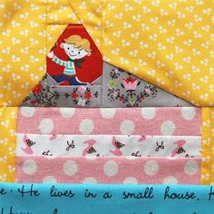 Piece of cake quilt block by Ayumi of Pink Penguin. Love it!