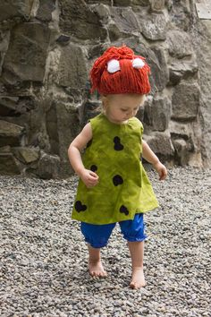 Flinstone Costume Bam Bam & Pebbles by MyPurplePrincessShop, $65.00 @Amber Cherry