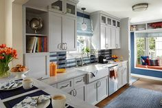 It might just be one of our most innovative remodels of a petite kitchen space. Not only did we collaborate to breathe new life into an older original kitchen, but we also creatively solved a storage shortage. Loft Kitchen, Family Kitchen, Kitchen Interior, Interior Design Advice, Luxury Interior Design, Ikea, Home Design, Layout Design, Petite Kitchen