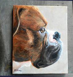 "Pet Portrait Painting, 11"" x 14"" Custom Dog Portrait, Boxer Art, Oil Painting on Canvas by CustomPortraitArt on Etsy https://www.etsy.com/listing/238266426/pet-portrait-painting-11-x-14-custom-dog"