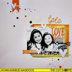 The Cut Shoppe: La La La LOVE You - Annelie Maddock, using the La La La Love You title cut file and You Gotta Have Heart background cut file.