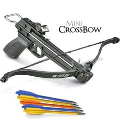 50 lb Pistol Mini Crossbow Archery Bow + 5 Bows for Bow and Arrow Hunting Survival   #MiniCrossbow #crossbow #survival #gun #hunting #bowandarrow #bow
