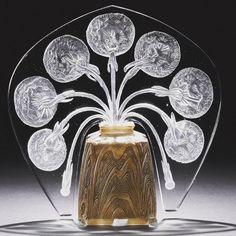 """R. Lalique Veilleuse """"Pissenlit"""" circa 1914"""
