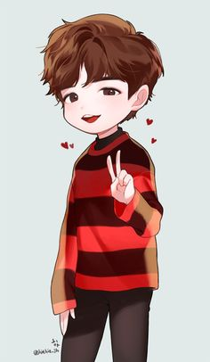 Kim Jaehwan Chibi Boy, Bts Chibi, Character Art, Character Design, Wallpaper Wa, Kim Jaehwan, Korean Art, Bts Drawings, Daily Drawing