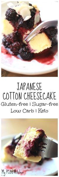 Japanese Cotton Cheesecake - A gluten-free and sugar-free alternative to the popular recipe. This cheesecake is extremely low-carb and so is perfect for a keto or low carb diet