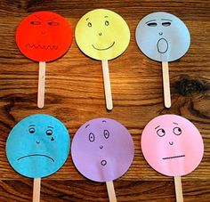 Emotions game- the kids loved these more than I thought they would! We did a whole lesson where we mimiced the emotion and where we talked about what caused the emotion. Afterwards I put them out for free choice with mirrors and a dry erase board and the Emotions Game, Teaching Emotions, Feelings Activities, Happy Emotions, Feelings And Emotions, Therapy Activities, Preschool Activities, Teaching Kids, Kids Learning