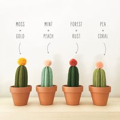 Felt Cactus by bysahrah on Etsy