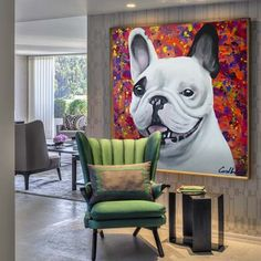 Cada canto da nossa casa conta um pouco sobre a gente.  Por isso ela é aconchegante.  Obra vendida- Bulldog Bella.  Rio de Janeiro