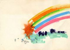 watercolour love rainbow
