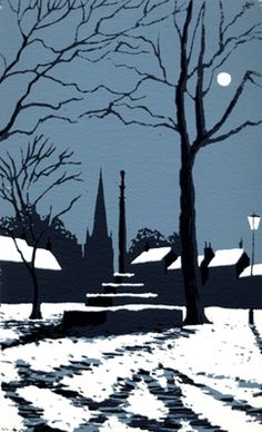 ✽ 'market cross in winter' - by ian scott massie