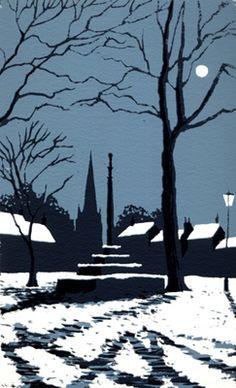 ✽ 'market cross in winter' - by ian scott massie
