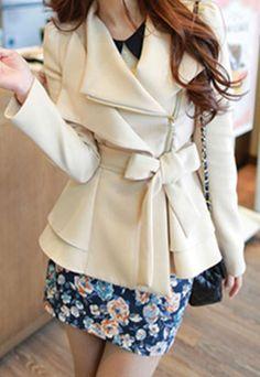"""$55.99 Style: European Style/Elegant  Heat: Lapel/Bowknot   Color: Orange/Black/Beige  Material: 35%Cotton +60% Dacron +5%Spandex  Size: S/M/L  S: Length: 65CM(25.59"""" ) Bust: 84CM(33.07"""" ) Waist: 70CM(27.56"""" ) Shoulder: 33CM(12.99"""" ) Sleeve Length: 63CM(24.80"""" )  M: Length: 66CM(25.98"""" ) Bu..."""