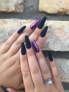 35 Impressive Purple Nails Are Suitable for this Summer - bedroom 35 Impressive Purple Nails Are Suitable for this Summer 35 Impressive Purple Nails Are Suitable for this Summer nails art, nails design, purple nails - Purple Chrome Nails, Black And Purple Nails, Purple Acrylic Nails, Best Acrylic Nails, Matte Nails, Gel Nails, Nail Polish, Acrylic Nails Chrome, Chrome Nail Art