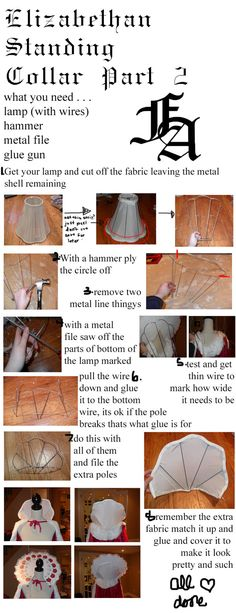 Elizabethan Collar Tutorial Part Two Supportasse by fangirlasylum.deviantart.com…